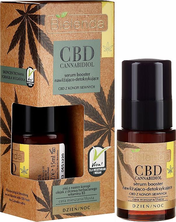 Sérum facial detoxificante e hidratante con aceite de cáñamo - Bielenda CBD Cannabidiol Serum