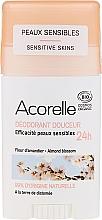 Perfumería y cosmética Desodorante stick orgánico para piel sensible, flor de almendro - Acorelle Deodorant Stick Gel Almond Blossom