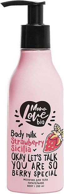 Leche corporal con extracto de fresa - MonoLove Bio Strawberry Sicilia Body Milk