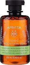 Perfumería y cosmética Gel de ducha natural con té de montaña, aceite esencial orgánico de bergamota & eucalipto - Apivita Tonic Mountain Tea Shower Gel with Essential Oils
