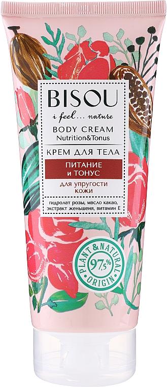 Crema corporal nutritiva con aceite de cacao e hidrolato de rosa - Bisou Rose&Cacao Body Cream