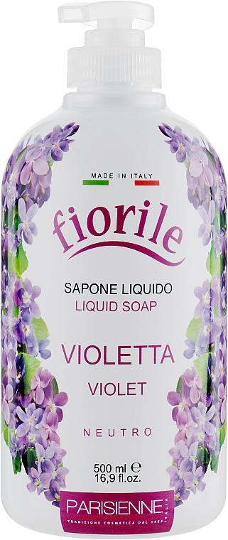 Jabón líquido con aroma a violeta - Parisienne Italia Fiorile Violet Liquid Soap