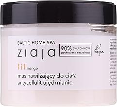 Perfumería y cosmética Mousse corporal hidratante anticelulitis con mango, vegano - Ziaja Baltic Home Spa FIT Mango Moisturizing Body Mousse