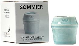 Perfumería y cosmética Soporte para cepillo dental de porcelana, azul - NaturBrush Sommier Toothbrush Holder