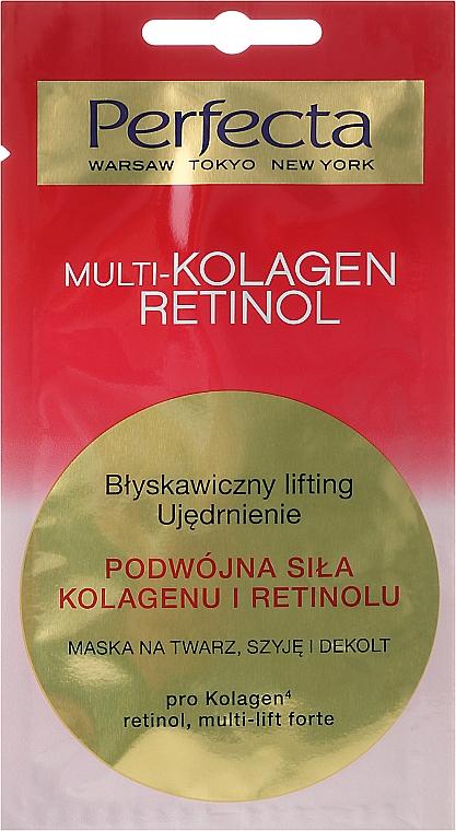 Mascarilla para rostro, cuello y escote con complejo petídico, retinol - Perfecta Multi-Kolagen Retinol