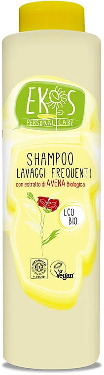 Champú nutritivo calmante de lavado frecuente con extracto de avena orgánica - Ekos Personal Care Shampoo For Frequent Washing