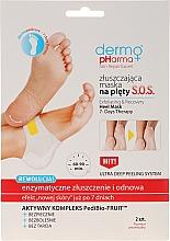 Perfumería y cosmética Mascarilla exfoliante enzimática para talones con ácido glicólico - Dermo Pharma Skin Repair Expert