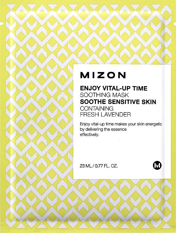 Mascarilla facial natural de algodón con vitamina C y betacaroteno - Mizon Enjoy Vital-Up Time Soothing Mask — imagen N1
