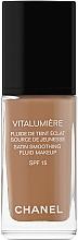 Perfumería y cosmética Base de maquillaje hidratante de cobertura media y acabado satinado con ácido hialurónico SPF 15 - Chanel Vitalumiere Fluide De Teint Eclat