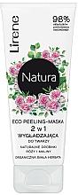 Perfumería y cosmética Mascarilla facial exfoliante con extractos de rosa y frambuesa - Lirene Natura Eco Peeling-Mask
