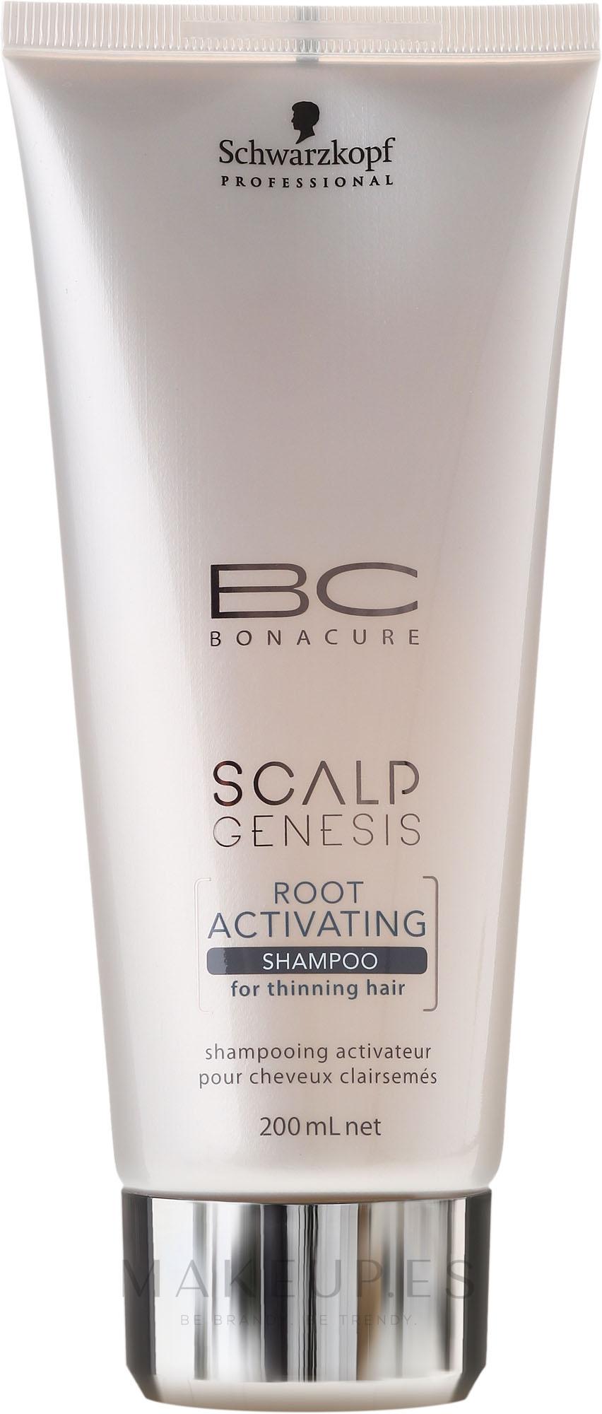 Champú activador de raíces anticaída con tartrato de carnitina, taurina y equinácea - Schwarzkopf Professional BC Bonacure Scalp Genesis Root Activating Shampoo — imagen 200 ml