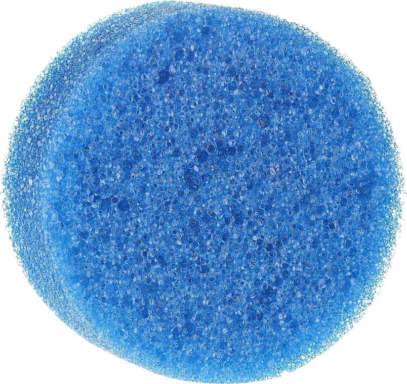 Esponja de baño anticelulítica, redonda, azul - Inter-Vion
