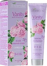 Perfumería y cosmética Crema depilatoria para pieles sensibles con aceite de camelia, cuerpo y bikini - Bielenda Vanity Soft Touch Kamelia