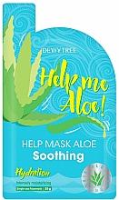 Perfumería y cosmética Mascarilla facial calmante con extracto de aloe vera - Dewytree Help Me Aloe! Soothing Mask
