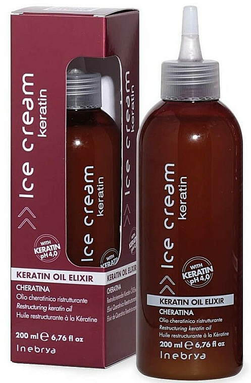Elixir para cabello reparador con queratina - Inebrya Ice Cream Keratin Oil Elixir