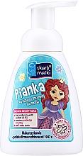 Perfumería y cosmética Espuma para higiene íntima infantil, Princesa 2, fondo azul - Skarb Matki Intimate Hygiene Foam For Children