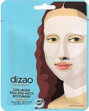 Perfumería y cosmética Mascarilla botox para rostro y cuello con colágeno - Dizao Collagen Face & Neck Botomask