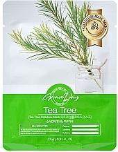 Perfumería y cosmética Mascarilla facial de celulosa calmante y purificante con extracto de árbol de té - Grace Day Traditional Oriental Mask Sheet Tea Tree