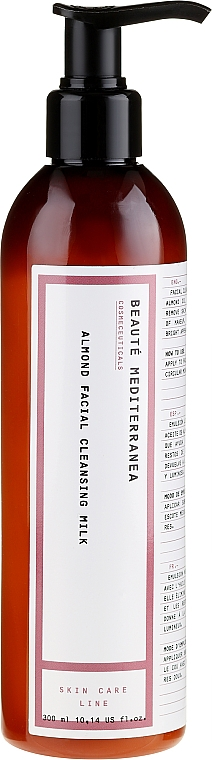Emulsión limpiadora con aceite de almendras - Beaute Mediterranea Almond Facial Cleansing Milk