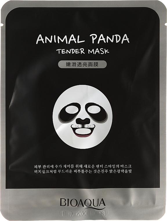 Mascarilla facial de tejido con extracto de levadura y avena - Bioaqua Animal Panda Tender Mask