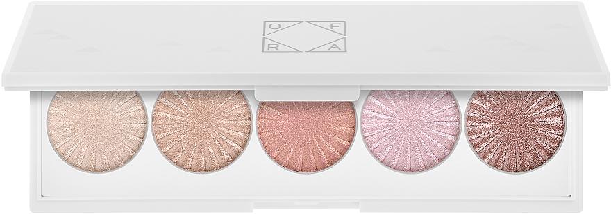 Paleta iluminadores faciales con espejo - Ofra Signature Glow Palette Multicolor