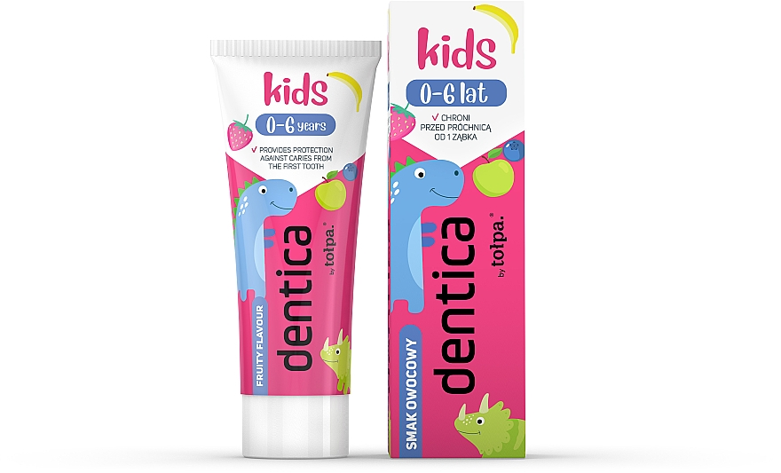 Pasta dental infantil con sabor dulce - Tolpa Dentica Kids