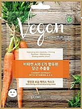 Perfumería y cosmética Mascarilla facial de tejido vegana con extracto de zanahoria - Lomi Lomi Vegan Mask