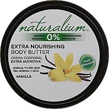 Perfumería y cosmética Manteca corporal con aceite de almendras dulces y aroma a vainilla - Naturalium Vainilla Extra Nourishing Body Butter