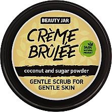 Perfumería y cosmética Exfoliante facial con polvo de coco y azúcar , sin parabenos, Creme brulee - Beauty Jar Gentle Scrub For Gentle Skin