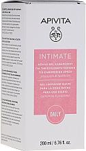 Perfumería y cosmética Gel de higiene íntima con extracto de camomila, propóleo y aceite de lavanda - Apivita Intimate
