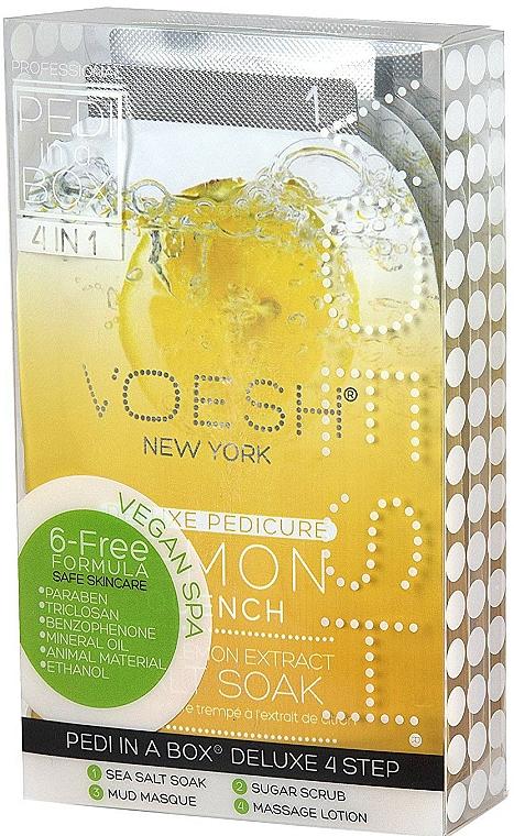Set de pedicura en 4 pasos con extracto de limón - Voesh Pedi In A Box Deluxe Pedicure Lemon Quench (35 g)