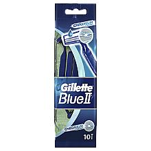 Perfumería y cosmética Maquinillas de afeitar desechables, 10uds. - Gillette Blue II Chromium