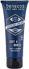 Perfumería y cosmética Crema de afeitar con aloe vera orgánico y extracto de centella asiática - Benecos For Men Only Shaving Cream