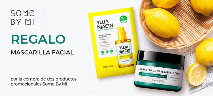 Por la compra de dos productos promocionales Some By Mi, llévate una mascarilla facial de regalo