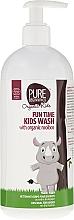 Perfumería y cosmética Gel de ducha con aceite de marula y baobab - Pure Beginnings Fun Time Kids Wash With Organic Rooibos