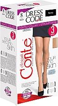 Perfumería y cosmética Pantis Dress Code, 8 Den, 3 uds, negro - Conte