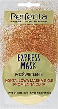 Perfumería y cosmética Mascarilla facial con oro de 24 quilates y ácido hialurónico - Perfecta Express Mask