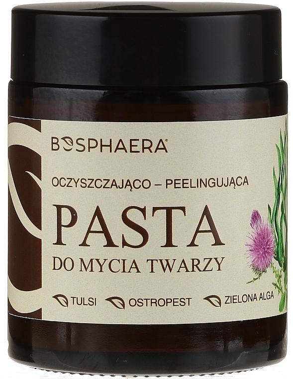 Exfoliante facial pasta 100% natural con arcilla blanca y almendras - Bosphaera