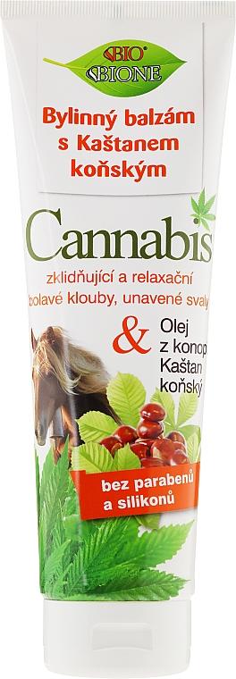 Bálsamo para pies con aceite de cañamo y extracto de castaño de indias - Bione Cosmetics Cannabis Herbal Ointment With Horse Chestnut