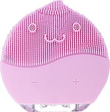 Perfumería y cosmética Cepillo de limpieza facial, BR-030, rosa - Lewer Facial Cleansing Brush Pink