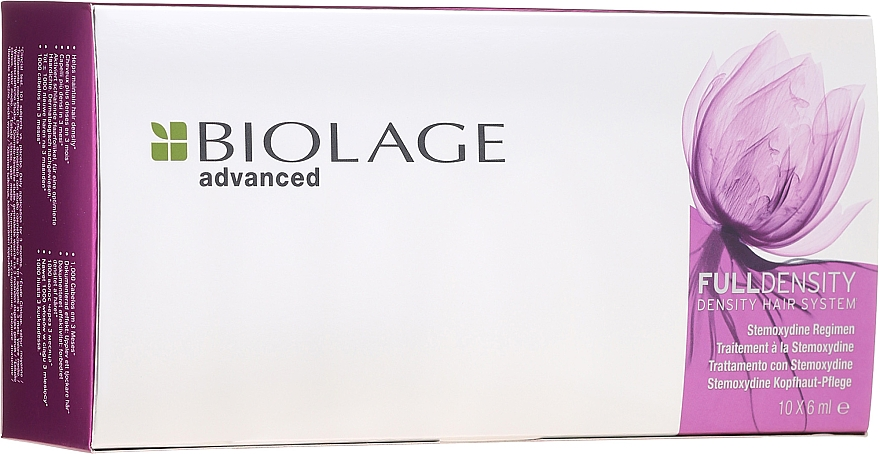 Tratamiento con estemoxidina para el crecimiento capilar - Biolage Full Density Thickening Hair System
