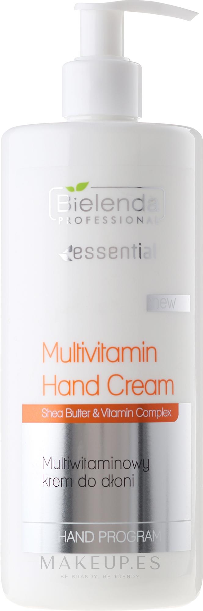 Crema de manos con manteca de karité y multivitaminas - Bielenda Professional Multivitamin Hand Cream — imagen 500 ml