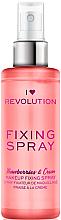 Perfumería y cosmética Spray fijador de maquillaje refrescante e hidratante con aroma a fresa - I Heart Revolution Fixing Spray Strawberries & Cream