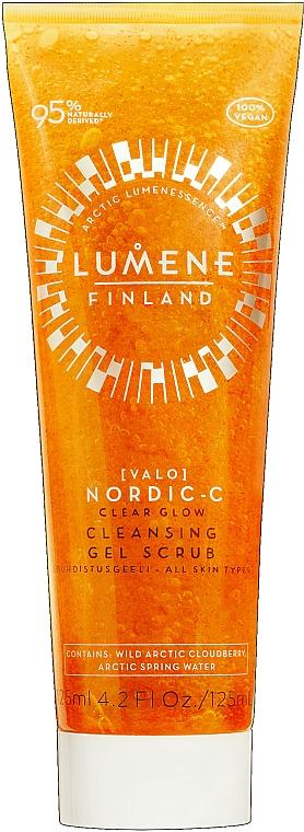 Gel facial exfoliante con mora ártica - Lumene Valo Nordic-C Clear Glow Cleansing Gel Scrub