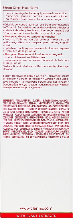 Sérum corporal con extracto de hibisco y nenúfar blanco - Clarins Renew-Plus Body Serum — imagen N3