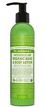 Perfumería y cosmética Loción para manos y cuerpo de pachulí y lima - Dr. Bronner's Patcouli & Lime Organic Hand & Body Lotion