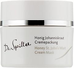 Perfumería y cosmética Mascarilla facial calmante en crema con bisabolol y aceite de semilla de uva - Dr. Spiller Honey St.John's Wort Cream Mask