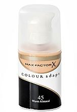 Base de maquillaje líquida con fórmula ultra fina, acabado natural y cobertura homogénea - Max Factor Colour Adapt — imagen N1