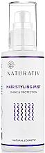 Perfumería y cosmética Spray natural para brillo y protección del cabello con agua de lavanda - Naturativ Hair Styling Mist