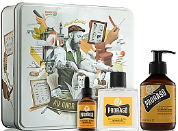 Perfumería y cosmética Proraso Wood & Spice Beard Kit - Set para barba (bálsamo/100ml + champú/200ml + aceite/30ml)